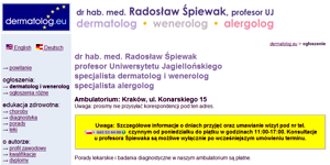 Radoslaw Spiewak, profesor at the Jagiellonian University of Krakow, specialist dermatologist, venereologist and allergist
